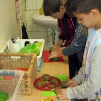 Verarbeitung von Schulobst und -gemüse