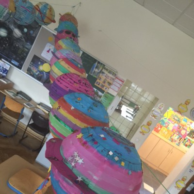 Laternen im Klassenraum