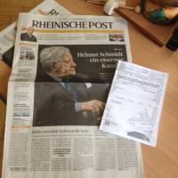 Rheinische Post mit Zeitungsbegleitheft