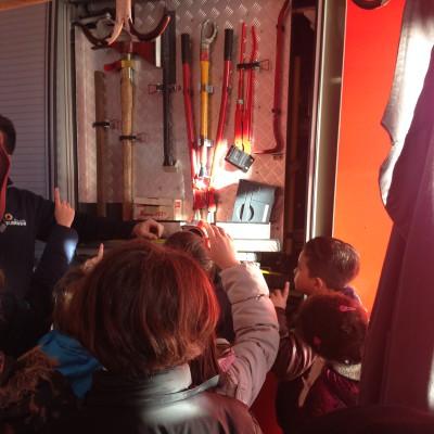 Ausstattung des Feuerwehrwagens
