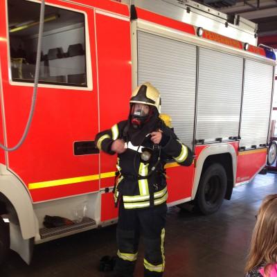 Kleidung eines Feuerwehrmannes