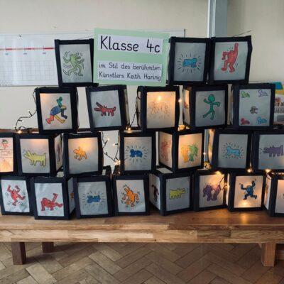 4c - Laternen im Stil von Keith Haring